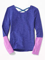 Old Navy Lattice-Back Performance Top for Girls