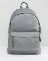 Lacoste Logo Backpack Grey