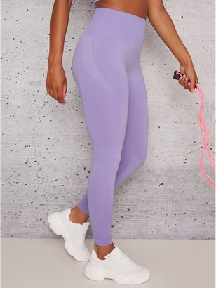 Chi Chi London Belle Leggings - Purple