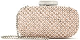 Oscar de la Renta Nude Embroidered Leather Goa Clutch
