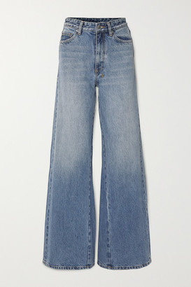 Ksubi Kicker High-rise Wide-leg Jeans - Mid denim