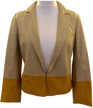 Tory Burch Beige Leather Leather Jacket for Women
