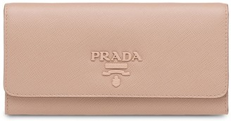 Prada Logo-Plaque Folding Wallet
