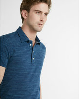Express textured space dye signature polo