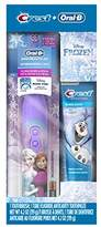 Oral-B and Crest Kids Pack featuringKids Fluoride Anticavity Toothpaste and Battery Powered Toothbrush (Brush Design May Vary)