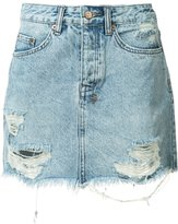 Ksubi ripped denim skirt - women - Cotton - 28