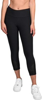 90 Degree By Reflex Missy Velvet Mesh Capri Leggings