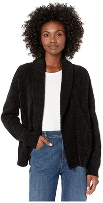 Eileen Fisher Organic Cotton Chenille Shawl Collar Cardigan