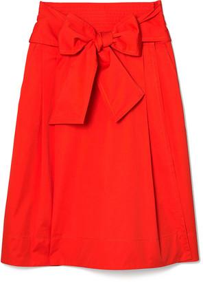 Tory Burch Cotton Poplin Wrap Skirt
