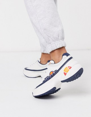 Ellesse Sparta chunky logo trainers in triple white