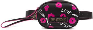Love Moschino Black & Fuxia Pvc Belt Bag
