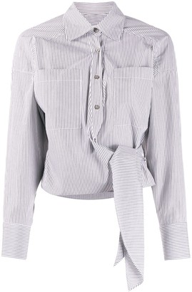 IRO tie-fastening striped shirt