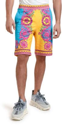 Versace Men's Neon Baroque Sweat Shorts