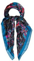 Erdem Watercolor Silk Scarf