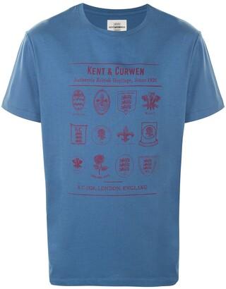 Kent & Curwen short sleeve crest print T-shirt