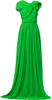 DELPOZO Cowl-Back Draped Gown