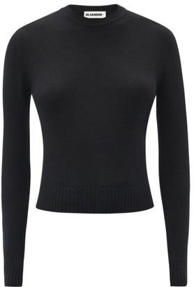 Jil Sander Cropped Wool Sweater - Black