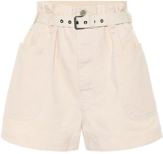 Etoile Isabel Marant Rike high-rise cotton-blend shorts