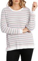 Coloured Stripe 3/4 Sleeve Jumper