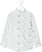 Cashmirino - Boat print shirt - kids - Cotton - 2 yrs