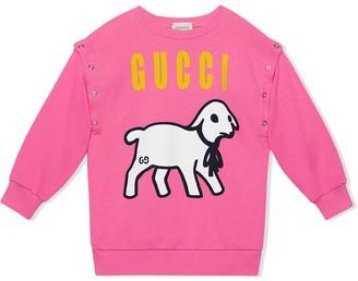 Gucci Kids Lamb-Print Sweatshirt
