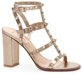 Valentino Garavani Rockstud Metallic Leather Cage Sandals