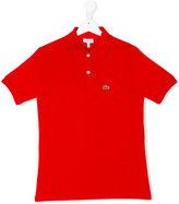 Lacoste Kids - logo embroidery polo shirt - kids - Cotton - 16 yrs