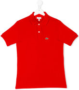 Lacoste Kids logo embroidery polo shirt