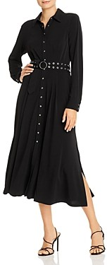 T Tahari Belted Midi Shirt Dress