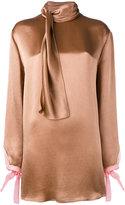 Valentino tie collar blouse - women - Silk/Viscose - 42