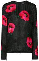 Ashish sequinned poppy detail top