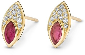 Andy Lif 18kt Gold Diamond Stud Earrings