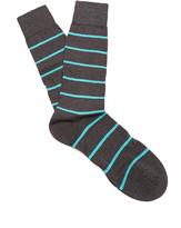 Pantherella Blavet striped cotton-blend socks