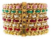 Chanel Braided Leather Bangle Set