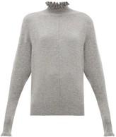 Chloé Ruffle-neck Cashmere Sweater - Womens - Grey