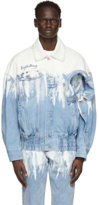 Feng Chen Wang Blue Levis Edition Denim Acid Wash Jacket