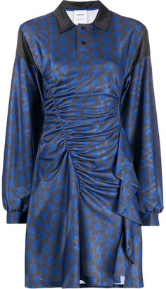 Emilio Pucci x Koche printed ruffle-detail dress