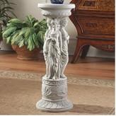 Toscano Chatsworth Manor Neoclassical Pedestal Plant Stand Design