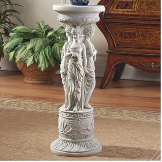 Toscano Design Chatsworth Manor Neoclassical Pedestal Plant Stand Design