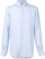 Barba classic shirt - men - Linen/Flax - 39