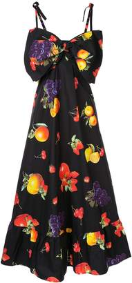 MSGM fruit print maxi dress