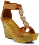 Women's Pegaxandra Wedge Sandal -Cognac