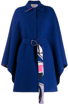 Emilio Pucci oversized wool belted coat
