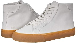 Madewell Sidewalk High Top Sneakers (Pale Parchment Canvas) Women's Shoes