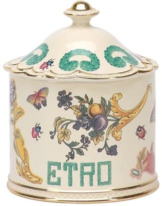 Etro Ha Giardini Italiani Round Ceramic Box