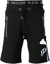 Philipp Plein skull track shorts