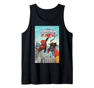 Marvel Spider-Man & Ms. Team Up Comic Book Cover Tank Top