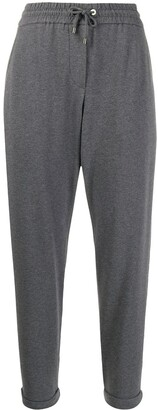 Brunello Cucinelli tapered-leg drawstring track pants