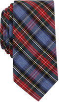 Bar III Men's Blue Heather Stew Tartan Slim Tie, Only at Macy's
