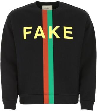 Gucci Fake/Not Print Sweatshirt